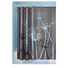 gray and blue shower curtain. interdesign thistle fabric shower curtain, 72 x 72-inch, gray/blue gray and blue curtain