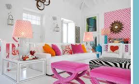 white pink orange turquoise