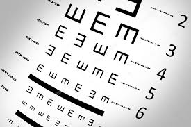 An Eye Sight Test Chart With Multiple Lines Stock Photo