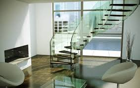 Fly  floating concrete stairs