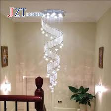 large lighting fixtures. Perfect Large Z Modern Spiral K9 Crystal LED Ceiling Lights Large Staircase Indoor GU10  Long Stair And Lighting Fixtures