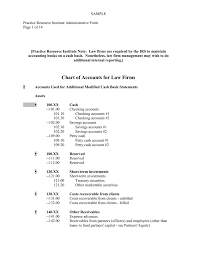 Chart Of Accounts For Accounting Firm Chart Of Accounts For Law Firms