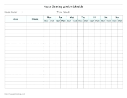 Weekly Chores List Template House Cleaning Schedule For Working Moms Household Chores