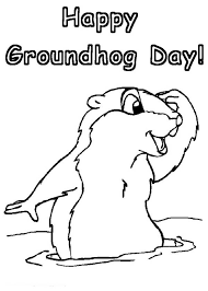 Small Picture Groundhog Day Printable Coloring Pages FunyColoring