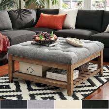 ottoman and coffee table pine planked storage ottoman coffee table by inspire q artisan brown leather ottoman and coffee table