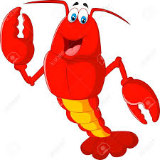 Cartoon Lobster Waving Royalty Free ...