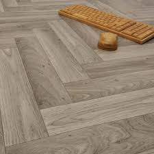 ecostep herringbone grey 906 cushioned vinyl flooring lifestyle image main shot jpg
