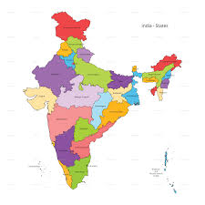 india states map and outline by vzan  graphicriver