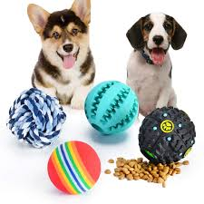 Dog toys striped squeaky ball