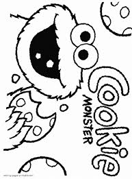 7 Sesame Coloring Pages Cookie Monster Coloring Pages Sesame Street