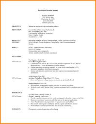 writing sample for internship 021 resume template for internship ideas college student sample