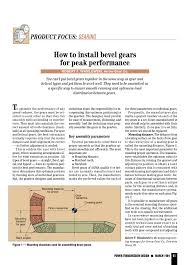 Bevel Gear Backlash Chart How To Install Bevel Gears For Peak Performance Pages 1 3