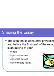 multiparagraph essay terminology  13 shaping the essay