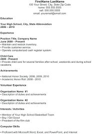 Sample Resume Format Download In Ms Word High School Resume Template