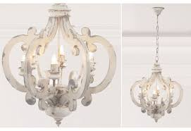 distressed wood chandelier rustic chandeliers french country intended for white wood chandelier view