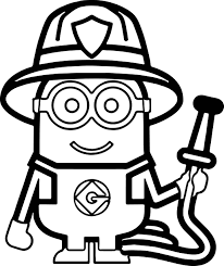 Small Picture Minions Fireman Coloring PageMore Pins Like This One At
