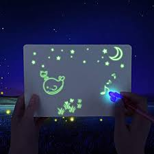 Us 1 69 52 Off 2 Pen Luminous Drawing Board Draw Light Fun Fluorescent Developing Toy Graffiti Doodle Board For Kids Educational Toy 2020 50 On