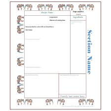 Full Page Recipe Template Free Full Page Recipe Card Template
