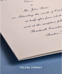 Wedding Invitation Folder Continental Invitation Folder