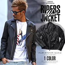 jacket men s jacket riders double riders alter double her leather jean jacket leather faux leather pu leather bitte bitter street casual winter black