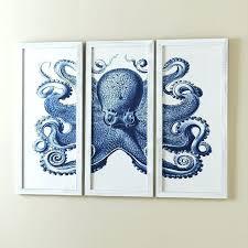 blue octopus wall art octopus wall art uk birch blue octopus wall art reviews octopus wall art