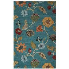 home decorators collection portico peacock 5 ft 3 in x 8 ft 3