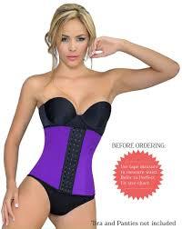 Colombian Waist Trainer Size Chart Ursula Waist Trainer Fusioned Latex Purple Ursula