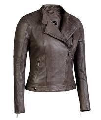 taupe womens asymmetrical leather jacket scuba collar soft lambskin