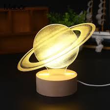 Lamp Decoration Design Decorative 100D Night Light Modeling Lamp Glow Saturn Design LED Light 94