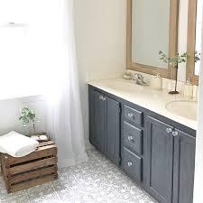 plum pretty decor and design diy cement tile painted linoleum floor makeover painted vinyl linoleum