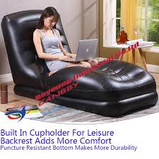 intex inflatable lounge chair. Black Intex Mega Lounge Chair Contoured Relax Inflatable Sofa Seat With Built-In Cup M