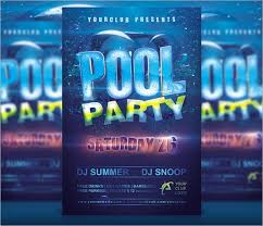 Free Pool Party Invitations Printable Free 12 Sample Best Pool Party Invitations In Illustrator