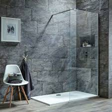 harbour i8 8mm 2m tall easy clean glass panel for wetrooms walk ins