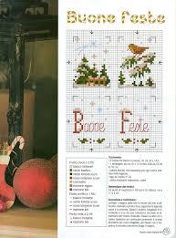 moduli buone feste (Natale) (2) - magiedifilo.it punto croce uncinetto  schemi gratis hobby creativi