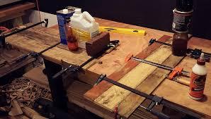 pallet furniture desk. Clamping Pallet Boards Furniture Desk C