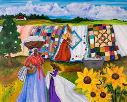 Country Quilts Painting by Diane Britton Dunham & Gullah Painting - Country Quilts by Diane Britton Dunham Adamdwight.com