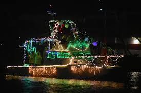 Santa Barbara Harbor Sparkles In The Night As Parade Of