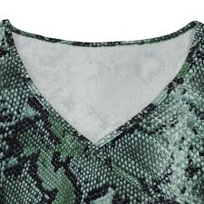 Python Pattern New 48 Sexy Python Pattern Dresses Fashon V Neck Long Sleeves Side