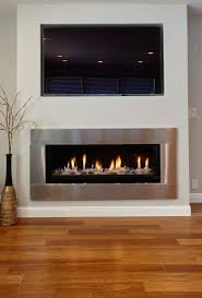 tv above mantle spaces contemporary with gas fireplaces