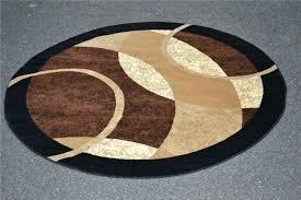circle rugs half