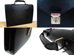 in upholstery repair and outstanding louis vuitton black epi leather ambassador セルヴィエッ