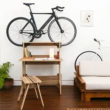 Bike hanger for apartment Nepinetwork Wooden Chol1 De5k Bike Storage Desk Is On Hardwood Floor In Clean Tiny Apartment Makespace 13 Best Bike Racks For Every Bicycle Owner On Your Gift List