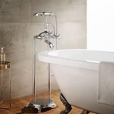 clawfoot tub fixtures. Cassandra Double Handle Floor Mount Clawfoot Tub Faucet Trim With Hand Shower Fixtures A
