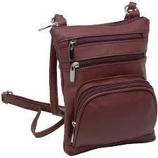 leather shoulder bag handbag purse cross organizer wallet multi pockets new 0