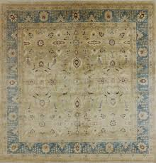 peshawar hand knotted ' square area rug  golden nile