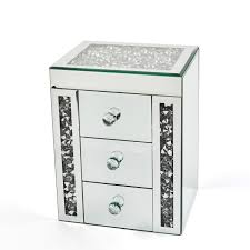 halley jewellery box 3 drawer silver