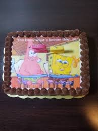 96 Spongebob Birthday Cake 25 Zpartlow Turns 25 Tomorrow Cake