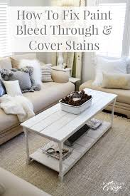 how to cover furniture. This Might Save Your Next Painted Furniture Project: How To Fix Paint Bleed Through And Cover