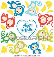 happy birthday pink and green clipart of happy birthday card template funny green blue pink