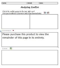Conflict Chart Analyzing Conflict Chart Types Of Conflict Student